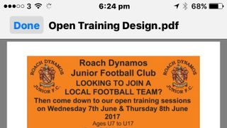 OPEN TRAINING SESSIONS
