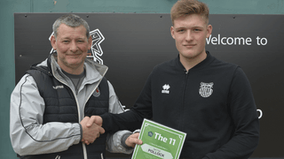 Grimsby Town defender Mattie Pollock receives LFE - The 11 certificate