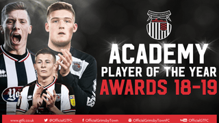Grimsby Town youth academy Player of the Year awards evening 2018-19