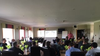 Psychologist Keith Mincher speaks at Grimsby Town Youth Academy CPD event
