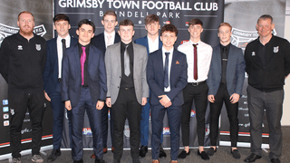 Grimsby Town youth team 2019-20 induction event