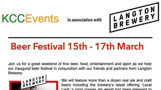 Beer Festival 15th-17th March