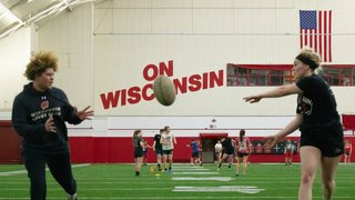 Men's and Women's Rugby come together for joint practice