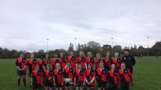 Banbury girls County team photo back row Georgia Condie 2nd Left Kendall Dickinson far Left