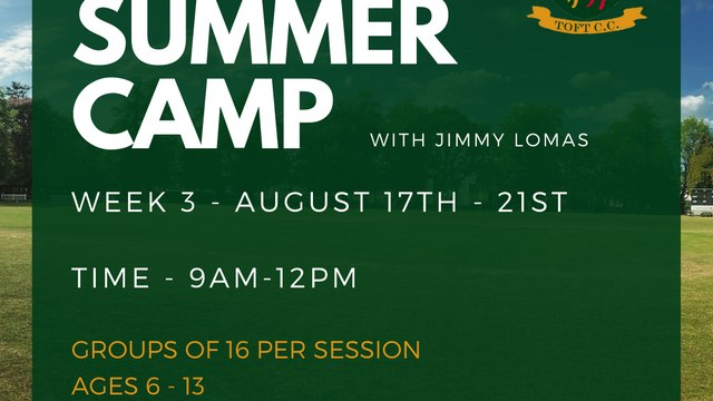 Toft CC Summer Camp Week 3