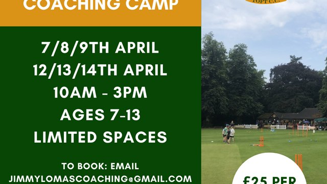 Easter Cricket Coaching Camps