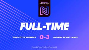 Steel City Wanderers 0 Solihull Moors Ladies 3
