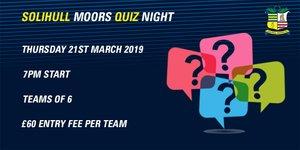 Solihull Moors Quiz Night