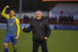 Tim Flowers reacts to Ebbsfleet victory