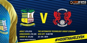 Tickets: Solihull Moors vs Leyton Orient
