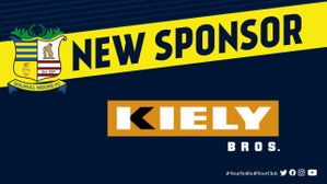 Kiely Bros announced as front of shirt sponsor