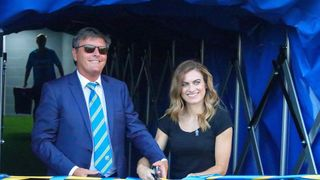 Karen Carney opens the Damson Homes Stand