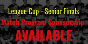 League Cup - Program Sponsorship Available