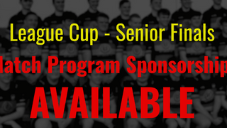 League Cup - Program Sponsorship Available