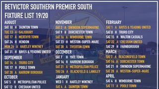 League Fixture Poster - Available To Download