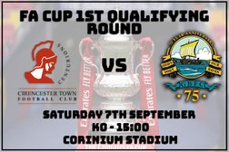 FA Cup 1st Qualifying Round - BORO' go to Cirencester