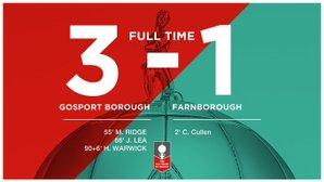 Gosport 3 - Farnborough 1