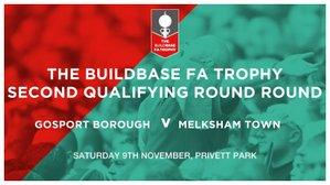 BORO' drawn at home against Melksham Town