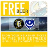 Free Beer For Everyone - Watch Pompey V Harrogate - TONIGHT