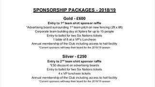 Sponsorship 2018/2019 season