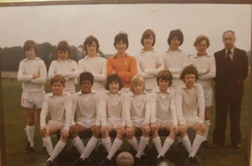 1975-76 YEL Triple Winners. Back Row (left to right) Russel Gee, Andy Holt, Neil Stephens, Gerald Morgan, Alan Hardy, Martin Clay, John Brookbanks, Glen Clay (Manager) Front Row (left to right) Philip Newell, Simon Smith, Mark Culley, Steve Grice, Mark Bi