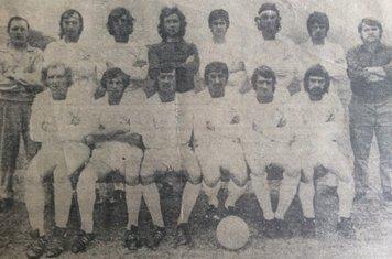 1973-74 Midland League, Back Row D Burnett(trainer), D Shipley, A Cuthbert, S Foster, E Young, J Hallott, P Patten, B Harrison (Manager), Front Row (left to right) D Brookes, A Simpson, P Byrne, D Kalisak, C Daykin, G Deakin