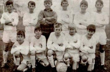 Back Row (left to Right) Pritchett, Clarke, Peter Wells, Rick, Jones, Dave Binch Front Row (left to right) Trevor Lambert, Kevin McMenamin, Steven Newell, Price, Swift