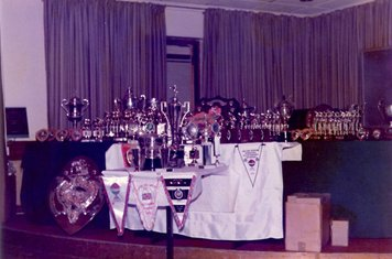 21st Presentation Evening. Prizes presented by Dave McVay, Vernon Rogers and Dick Lambert