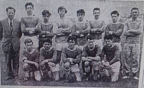 1963 Clifton YC Back row: Mr Perkins, B Abdey, P Stapleton, C Burrows, D Watts, M Smith, J McKechnie,Mr Dudley. Front row T Stanley, D Prentice, A Redgate, B Hopewell, T White