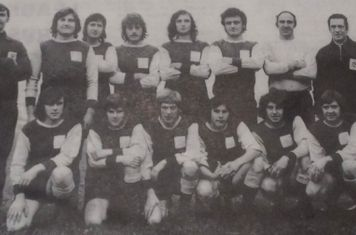 Clifton Town 1973 Back Row J Simons(Vice President), P SmithT Gleeson, G Dyer, P Peel, T Rockcliffe, L Mitchell, B Pegg (Trainer). Front B McDermott, N Blatherwick, G Marriott, M Medwell, P Fowkes R Wilkinson