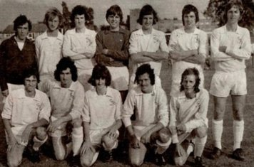 Back Alan Parker Steve Bee Unknown Mel Hart Colin Smith Unknown Tony Cuthbert Front Gary Clarke Billy Daft Gary Birtles Dave Burton Unknown