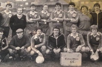 1980 Clifton Albion Back: Unknown Unknown Unknown B Polkey A Hallam D Wright C Briggs Unknown T Strickland A Johnson J Peck  Front J Stirlans P Fletcher Unknown M Booth M Tongue P Davies S Booth