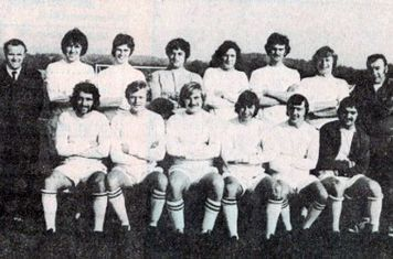 1970-71 Clifton All Whites Back Alan Withers (Manager) Mick Boyle Eddie Young David Taylor Steve Ward John Hallot Bryn Willens Walter Smedley (trainer) Front Iain Walsh John Haymen Jimmy Richardson Kevin Flynn Paddy Byrne Pete Terry