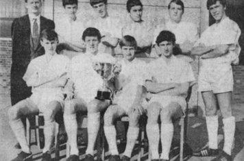 1965 Fairham Comprehensive 7 a side Winners Back Row Mr P Smith, Kevin Gallagher, Melville Butcher, David Taylor, Stewart Inger, Ronald Harding Front Michael Rogers, Robert Abdy, Graham Deakin, Alan Marshall
