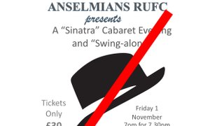 Sinatra Night Cancelled