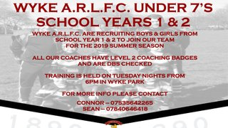 Wyke Under 7's Are Recruiting