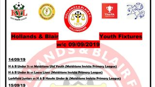 Holland's and Blair Youth fixtures