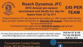 Roach Dynamos JFC 2018 Annual pre-season Tournament for U7's to U11's