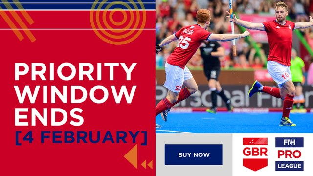 Club priority access to fih pro league tickets ends soon