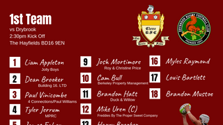 Cleve team named to face Drybrook