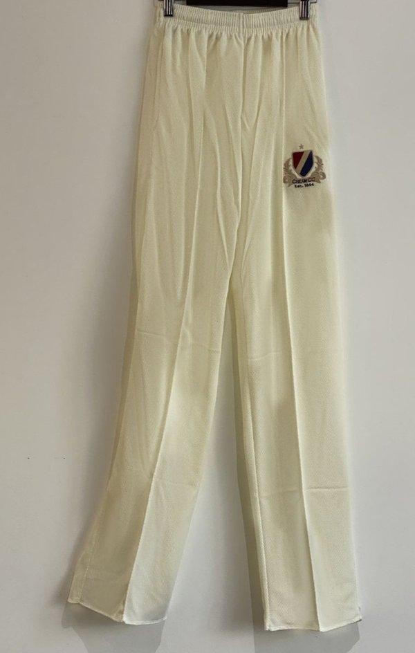 Adult White Match Trousers