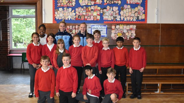 Oxford City WFC visit Botley Primary School