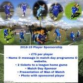 1st Team Player Sponsorship