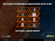 Stat Pack National League North: Matchday 15 by Official Betting Partner LV BET