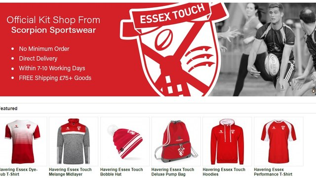 Havering & Essex Touch new online club shop