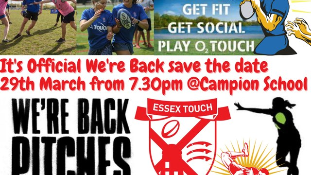 Havering & Essex Touch returns Monday 29th March 2021