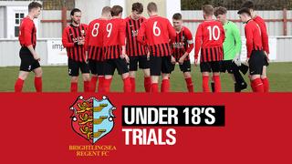 Under 18's Trials Date