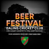 Ealing CC Inaugural Beer Festival