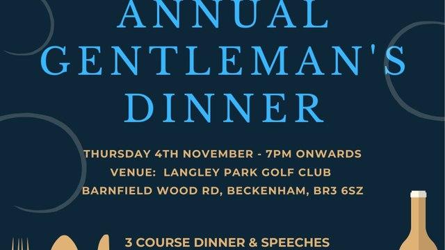 Bromley & Beckenham HC Gentleman's Dinner