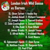 Wild Geese take on Barnes in the last game of the season